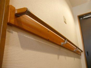手摺りを付けたい 浴室・廊下(I型)